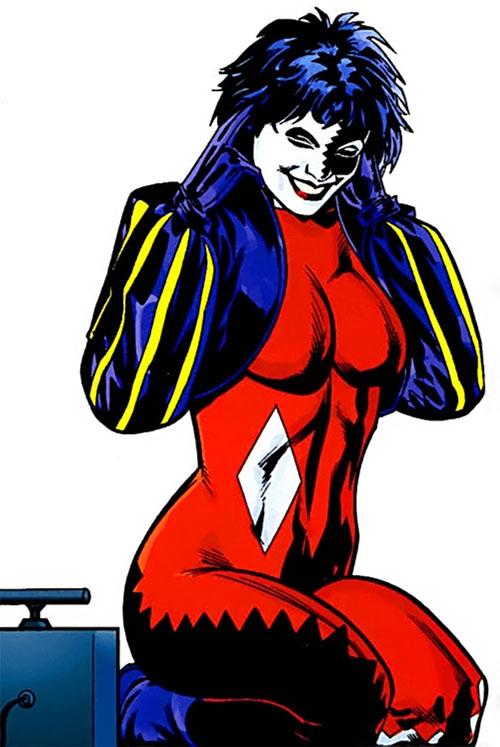 Joker (DC's Tangent Comics) with a plunger detonator