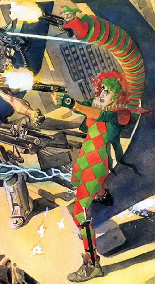 Joker's Daughter (Kingdom Come) firing guns