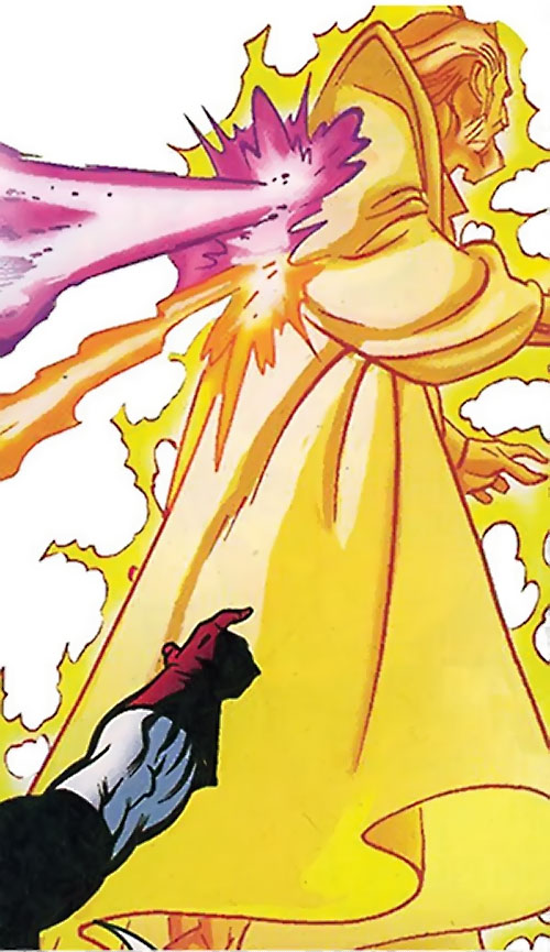 Jonathan Tremont of the Triune (Avengers enemy) (Marvel Comics) giant energy form ignoring attacks