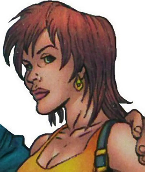 Joystick of the Thunderbolts (Marvel Comics) face closeup