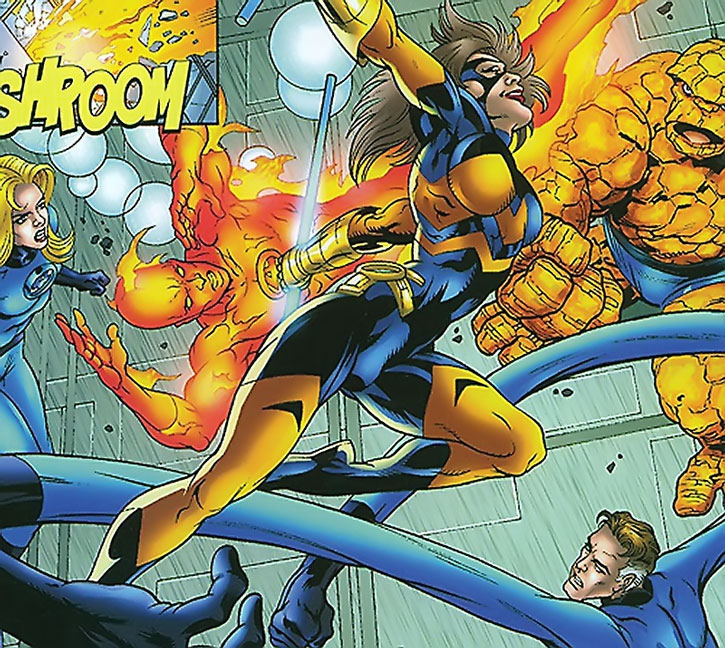 Joystick (Janice Yanizeski) vs. the Fantastic Four