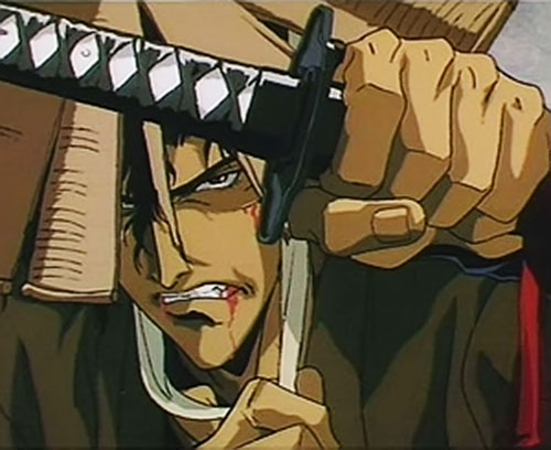 Jubei Kepagami (Ninja Scroll) bleeding from his mouth
