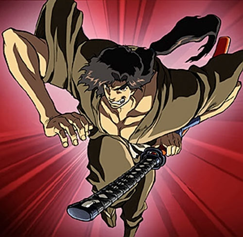 Jubei Kepagami (Ninja Scroll) leaping ahead