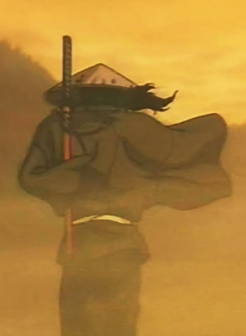 Jubei Kepagami (Ninja Scroll) in the wind and dust