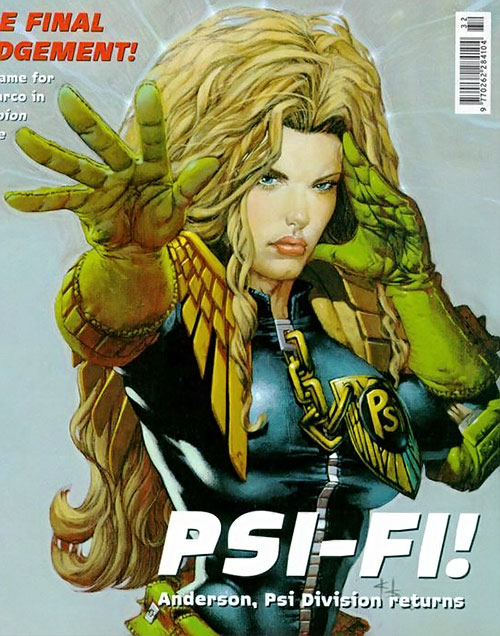 Judge Anderson (Judge Dredd 2000 AD) with long hair
