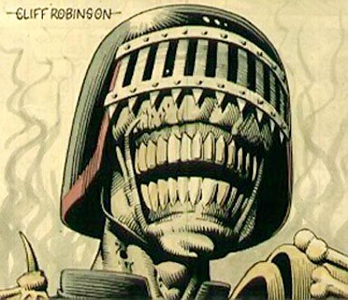 Judge Death (Judge Dredd enemy) (2000AD Comics) face closeup