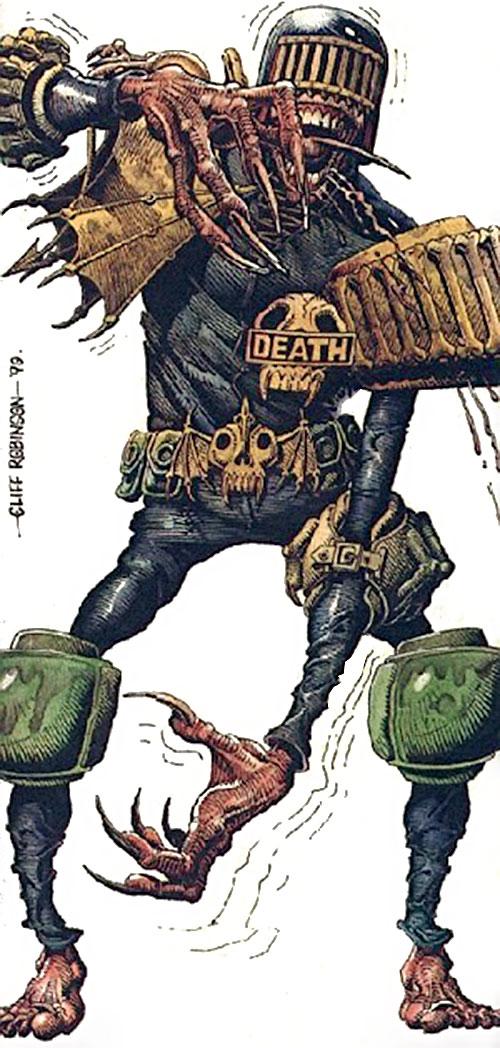 Judge Death (Judge Dredd enemy) (2000AD Comics) by Cliff Robinson