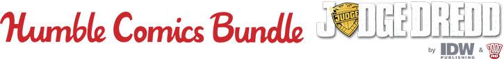 Judge Dredd e-comics pack by Humble Bundle - logos