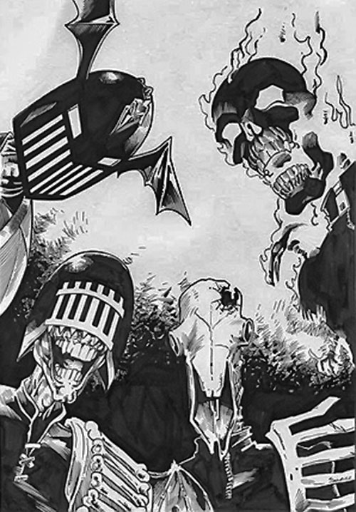 Heads of the Dark Judges (Judge Dredd enemies) (2000AD Comics)