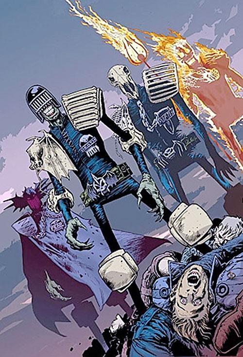 The Dark Judges (Judge Dredd enemies) and corpses