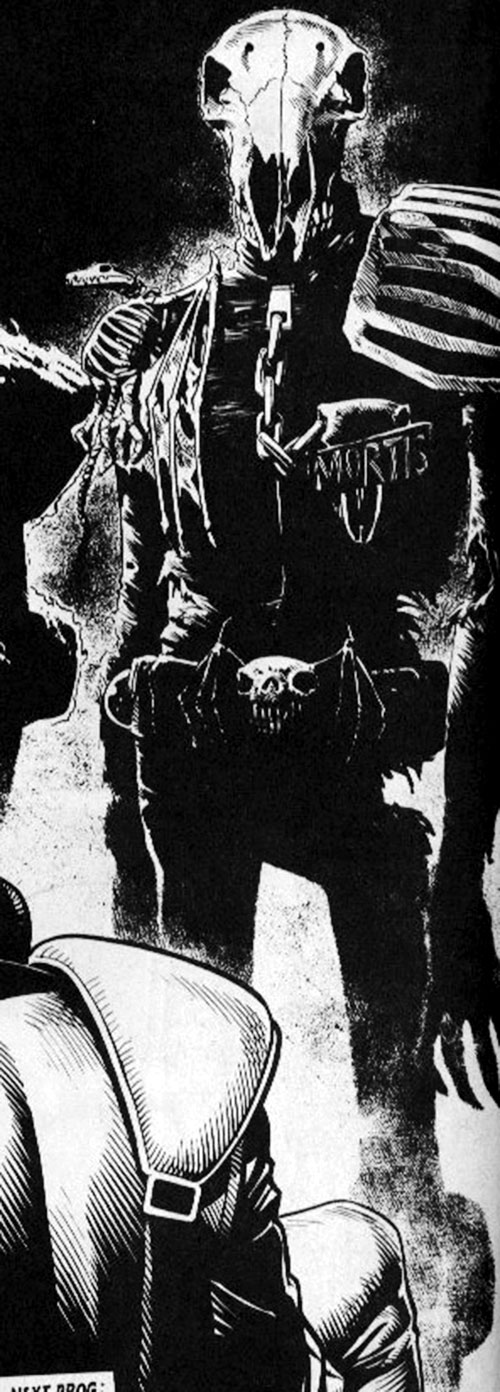 Judge Mortis of the Dark Judges (Judge Dredd enemy) (2000AD Comics) B&W