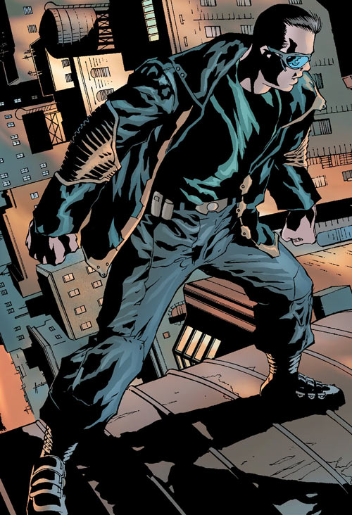 Junta (Marvel Comics) (Black Panther / The Crew character) on rooftops