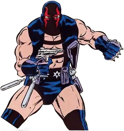 KGBeast (Batman enemy) (DC Comics) aiming a pistol
