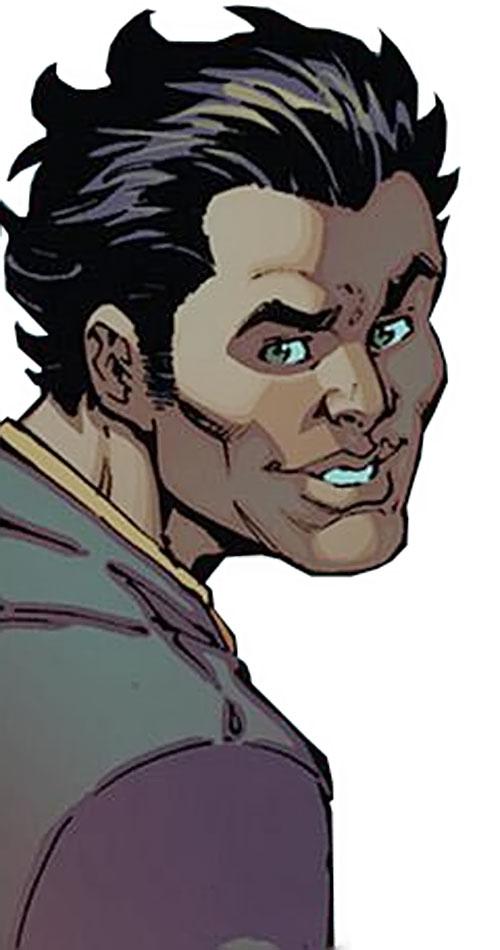 Kaboomerang of the Guardians of the Globe (Image Comics Invincible) face closeup