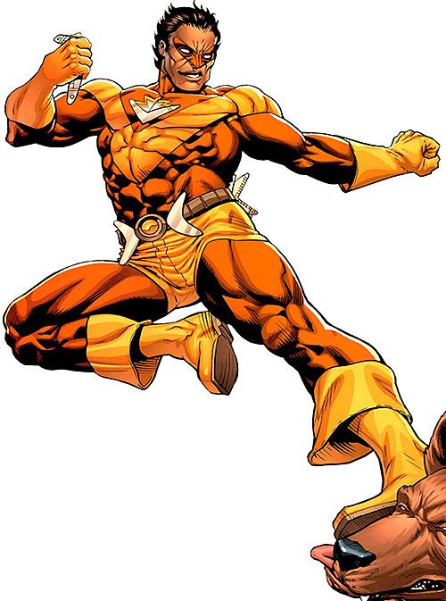 Kaboomerang of the Guardians of the Globe (Image Comics Invincible) flying kick