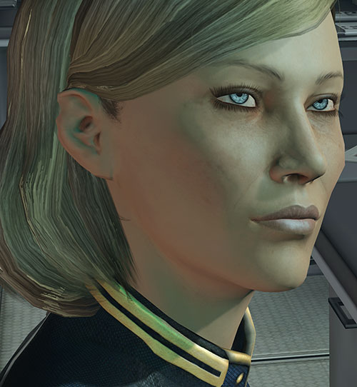 Kahlee Sanders (Mass Effect) face closeup