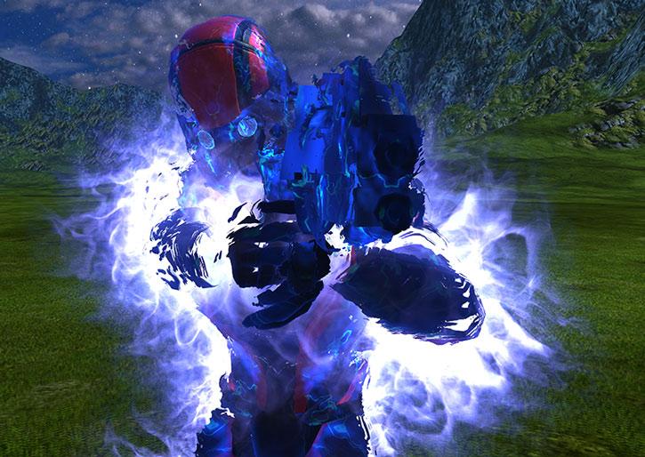 Kaidan Alenko surrounded by biotic dark energy