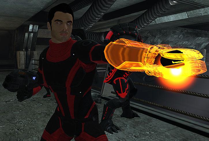 Kaidan Alenko using his omni-tool