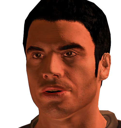 Kaidan Alenko in Mass Effect talking face closeup
