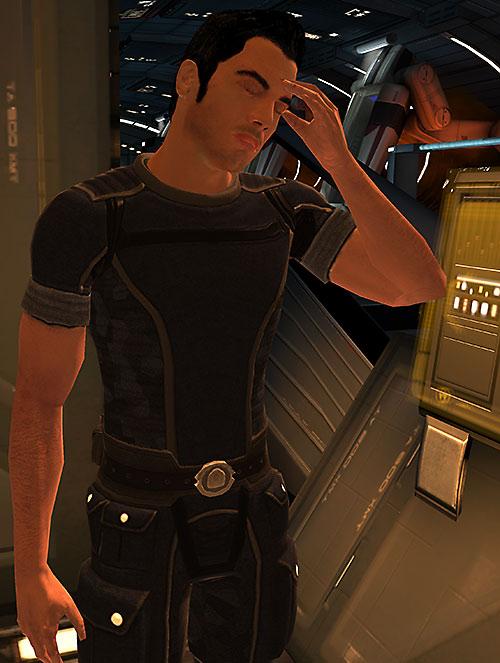 Kaidan Alenko in Mass Effect migraine headache