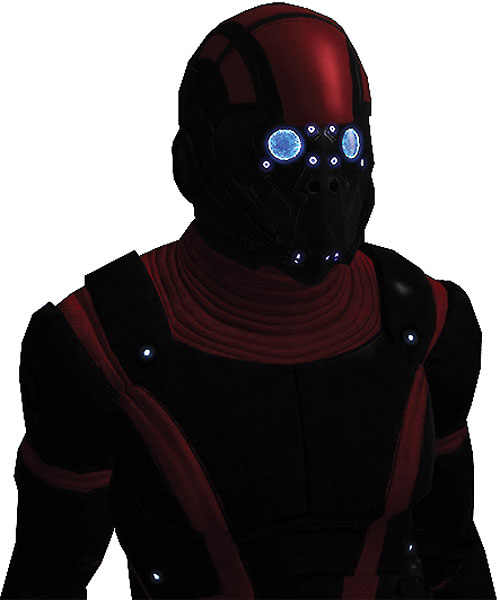 Kaidan Alenko in Mass Effect Colossus armor and face plate