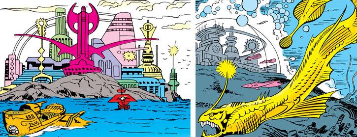 Queen Kala (Marvel Comics Subterranea) - Netherworld in the distant past