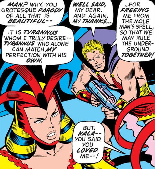 Queen Kala (Marvel Comics Subterranea) - with Tyrannus