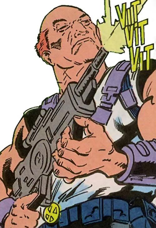 Kaliber (Suicide Squad enemy) (DC Comics) shooting
