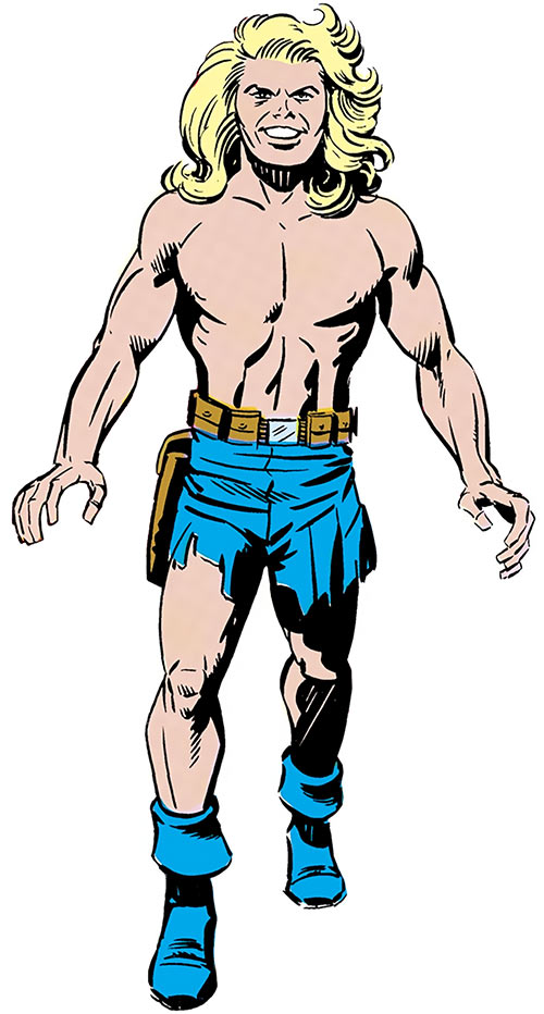 Kamandi over a white background