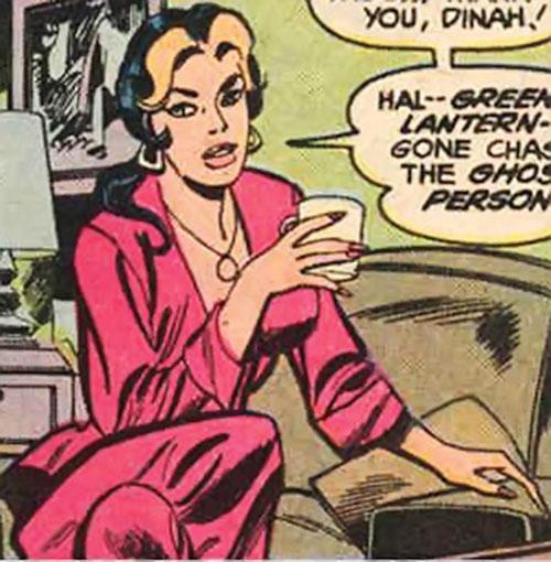 Kari Limbo (Green Lantern character) (DC Comics) having a drink