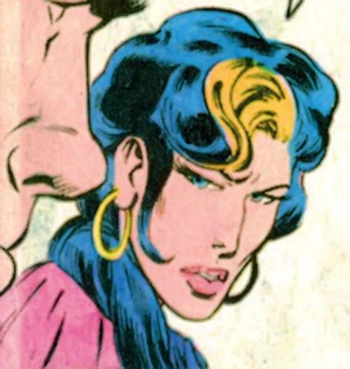 Kari Limbo (Green Lantern character) (DC Comics) face closeup side view