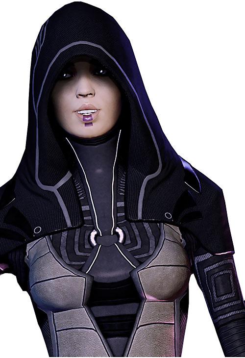 Kasumi Goto (Mass Effect) looking happy
