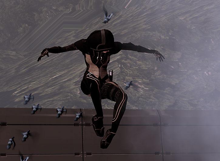 Kasumi Goto in mid-air