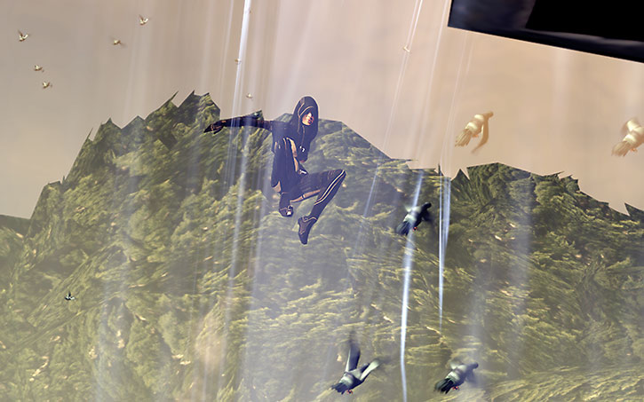 Kasumi Goto makes a super-jump