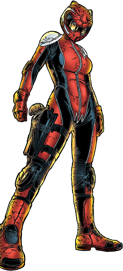 Kathryn Artemis (Black Summer) (Avatar Comics) in her biking leathers