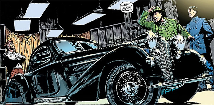 Kato, the Green Hornet and the Black Beauty