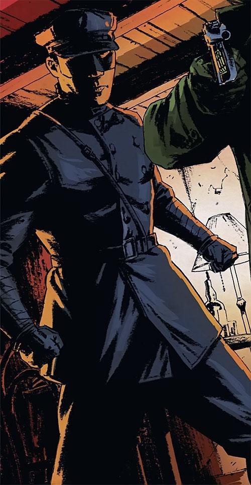 Kato (Green Hornet Dynamite Comics Wagner) in dim lighting