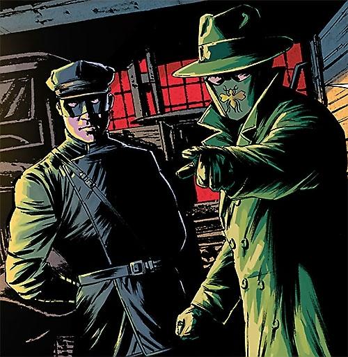 Kato (Green Hornet Dynamite Comics Wagner) with the Hornet