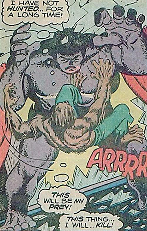 Kay-12 (Behemoth) (Marvel Comics) vs. Werewolf by Night