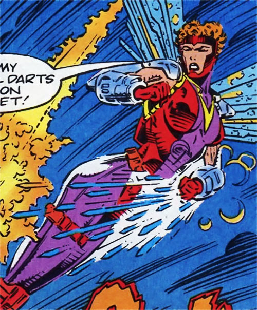 Kestrel of the Gene Dogs (Marvel Comics UK) shooting darts