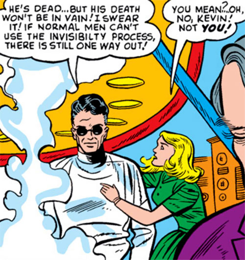 Kevin Scott the Blind Science Wizard (Strange Tales comics) and Moira
