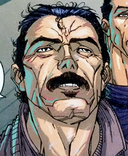 Khalid Tefibi of Stormwatch Team Achilles (Wildstorm Comics) face closeup