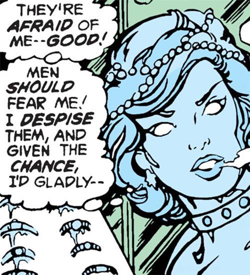 Killer Frost (Firestorm enemy) (DC Comics) (Crystal Frost) face closeup