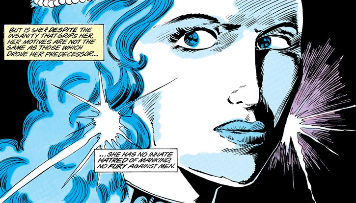 Killer Frost (Louise Lincoln) face closeup