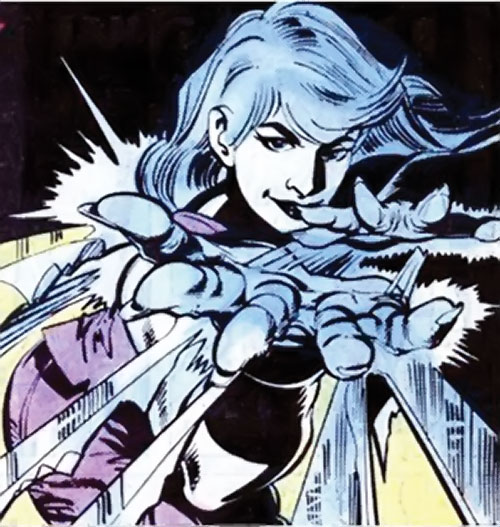 Killer Frost (Firestorm enemy) (DC Comics) (Lincoln) shooting ice spars