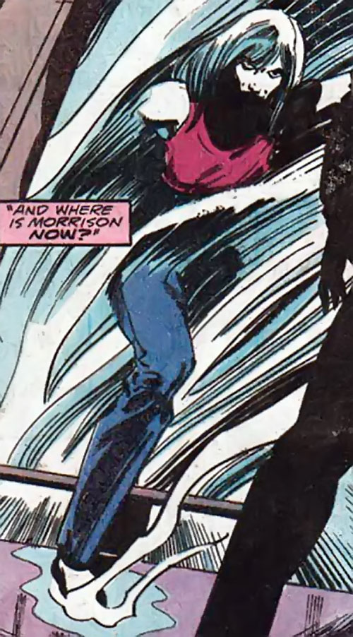 Killer Frost (Firestorm enemy) (DC Comics) (Lincoln) stepping out of the cold