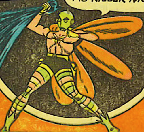 Killer Moth (Bob Kane Batman enemy) (DC Comics) grabs Batman's cape