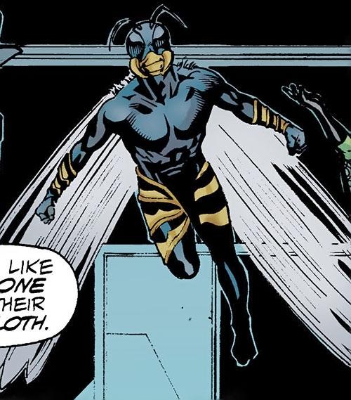 Killer Wasp of the Injustice Society (JSA enemy) (DC Comics) flying