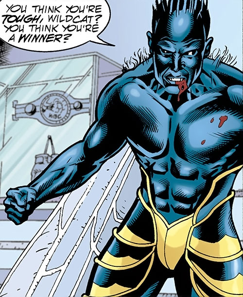 Killer Wasp of the Injustice Society (JSA enemy) (DC Comics) without his helmet