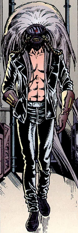 King Mob of the Invisibles (Vertigo Comics) with his headgear on
